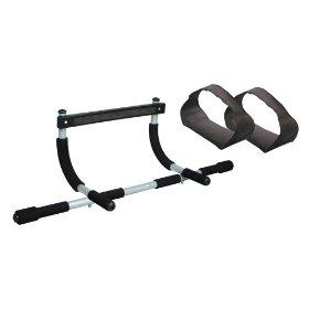 Iron Gym Upper Body Workout Bar with Ab Straps